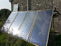 Solar heated water units